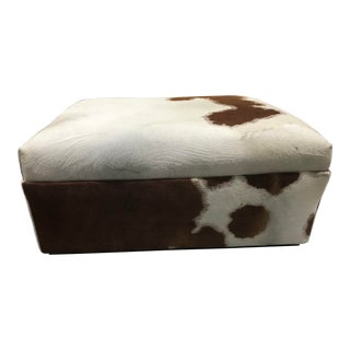 Mid Century Modern Cowhide Bench For Sale