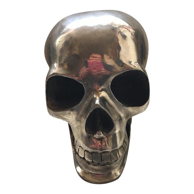 Large Vintage Silver Metal Skull - Image 1 of 11