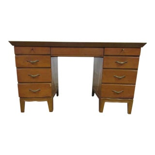 Pinecrest Wooden Leather Top Desk