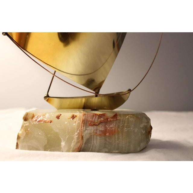 DeMott Mid-Century Brutalist Brass Sculpture - Image 2 of 5