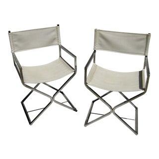 Milo Baughman Mid- Century Modern Producer Chrome Chairs - a Pair For Sale