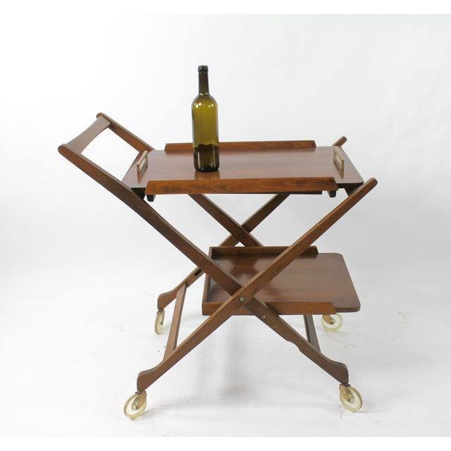 Mid-Century Modern Mid Century Modern Bar Cart Server For Sale - Image 3 of 8