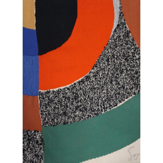 Sonia Delaunay (France, 1885-1979) Title: Hippocampe Wool tapestry handwoven by Atelier Pierre Daquin (Atelier Saint-Cyr)...