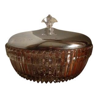 1960s Vintage Powder Vanity Dish Jar For Sale