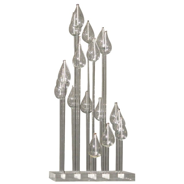 Mid-Century Glass & Lucite Oil Candelabra - Image 1 of 9