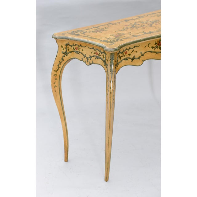 Italian Hand Painted 19th Century Console Table For Sale - Image 3 of 11