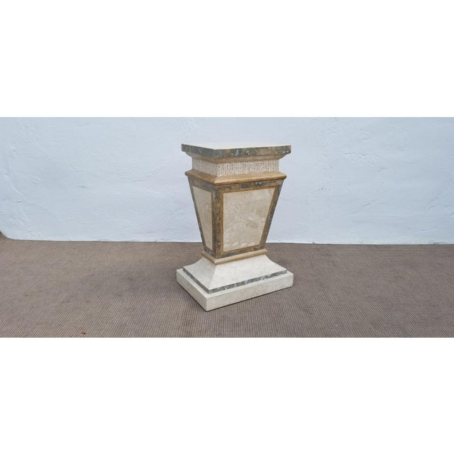 1980s Vintage Maitland Smith Tessellated Stone Pedestal For Sale - Image 9 of 9