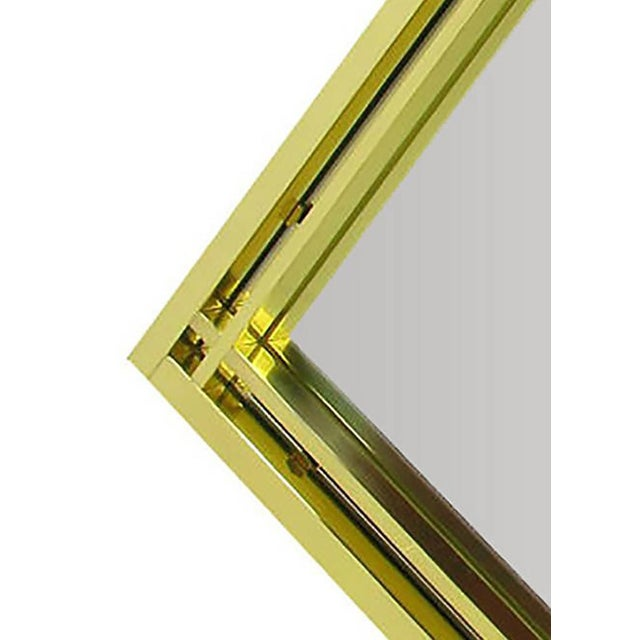Brass Double Framed Mirror in the Style of Pierre Cardin For Sale - Image 4 of 5