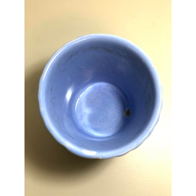 American Vintage 1960s Mid-Century Flowerpot and Attached Saucer For Sale - Image 3 of 6