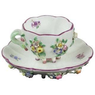 19th Century Victorian Style Meissen Cup and Saucer