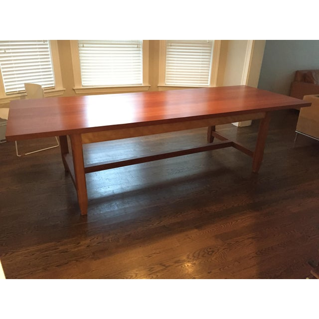 Solid Cherry Dining Table With Antique-Style Trestle For Sale - Image 11 of 11