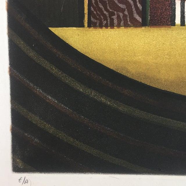 Modern Vintage Eli's Abrahami Original Lithograph For Sale - Image 3 of 7