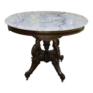 20th Century English Traditional Mahogany Oval Side Table