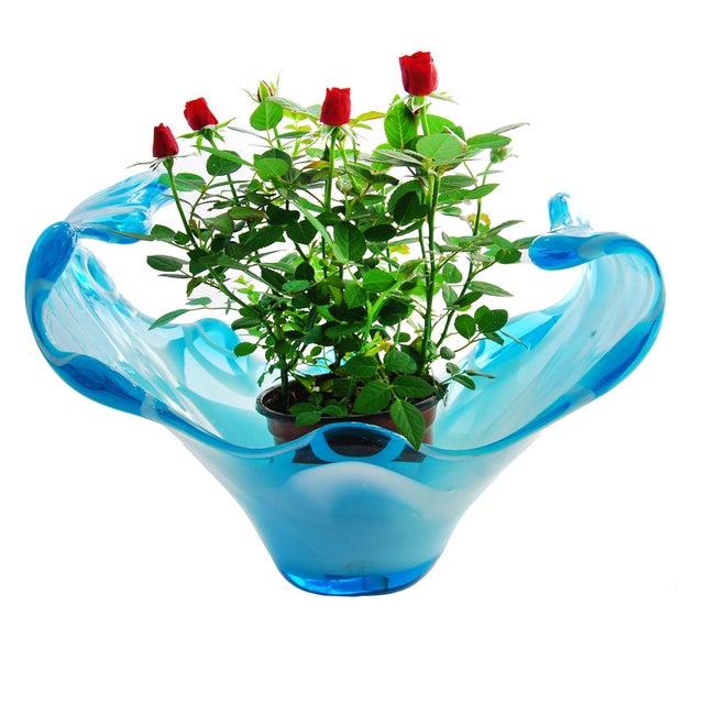 Big Splash Blue Glass Fine Art Dish - Image 6 of 6