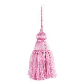 Pyar & Co. Trellis Home Tassel, Pink, Small For Sale
