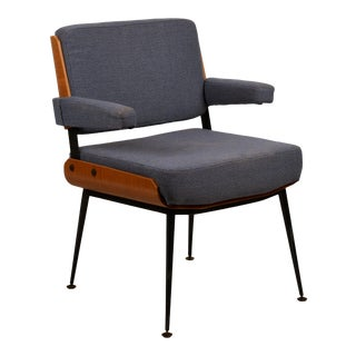 Impeccable French 1960s Bentwood Armchair by Alain Richard For Sale