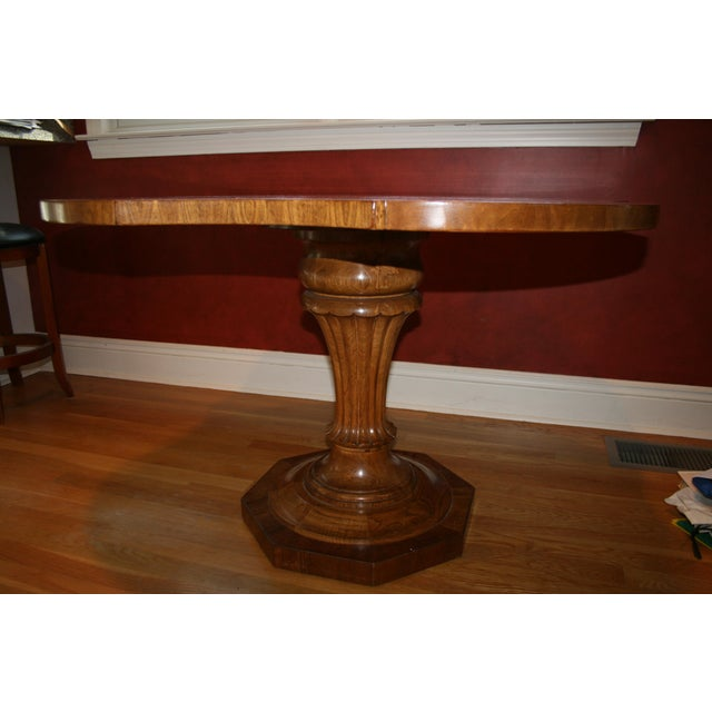 Inlaid Top Pedestal Dining Table - Image 2 of 6