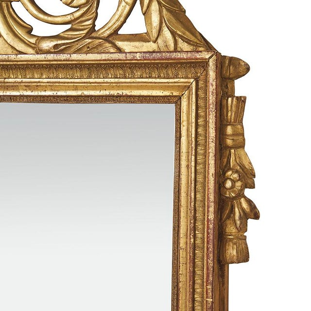 French 18th Century Louis XVI Carved Gilded Mirror, Circa 1770 For Sale - Image 3 of 7