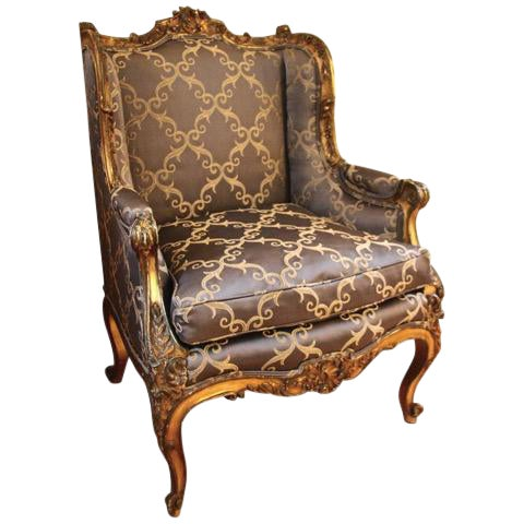 Rococo Style Bergère Chair For Sale