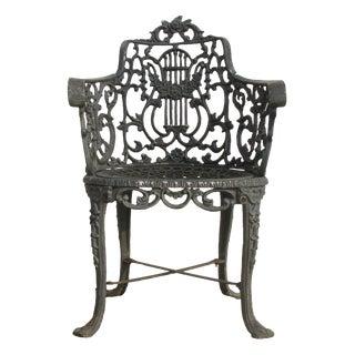 Elegant Vintage Cast Iron Garden Chair