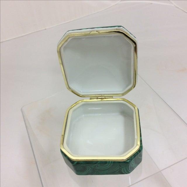Fredrick Cooper Faux Malachite Box - Image 7 of 8