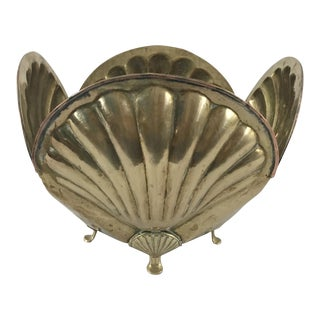 Shell Shaped Brass Planter