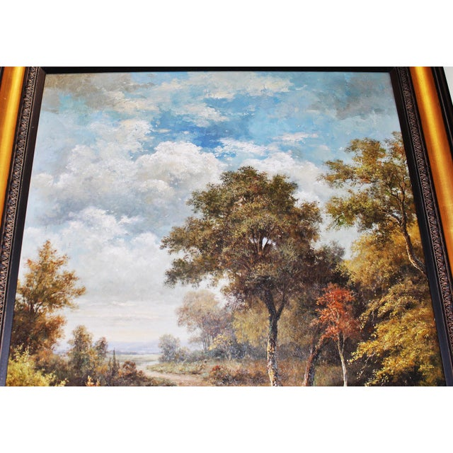 Brown Large Country Stream Painting For Sale - Image 8 of 10
