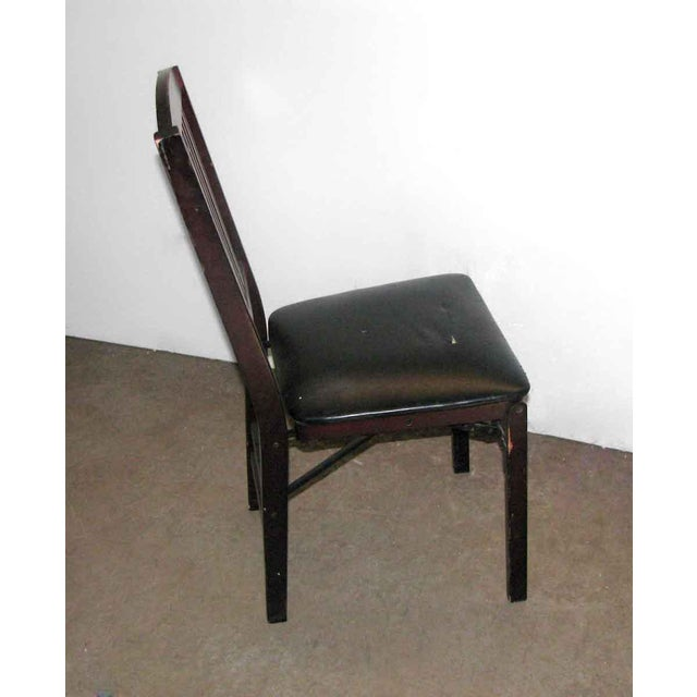 Black Antique Black Folding Wood Chair For Sale - Image 8 of 11