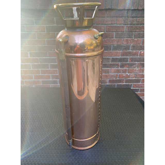Fyr-Fyter Co. Dayton, Ohio Copper and Brass Full Size Fire Extinguisher For Sale - Image 12 of 13