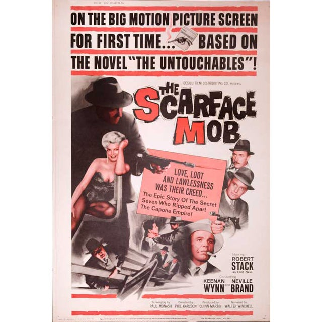 The Scarface Mob Giant 1959 Drive-In Movie Poster - Image 1 of 2