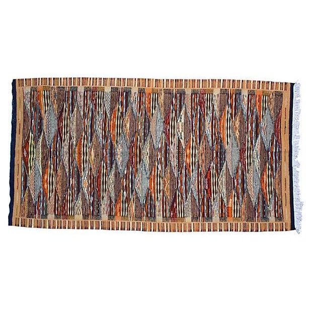 Moroccan Rug- 3'7'' X 7'3'' For Sale