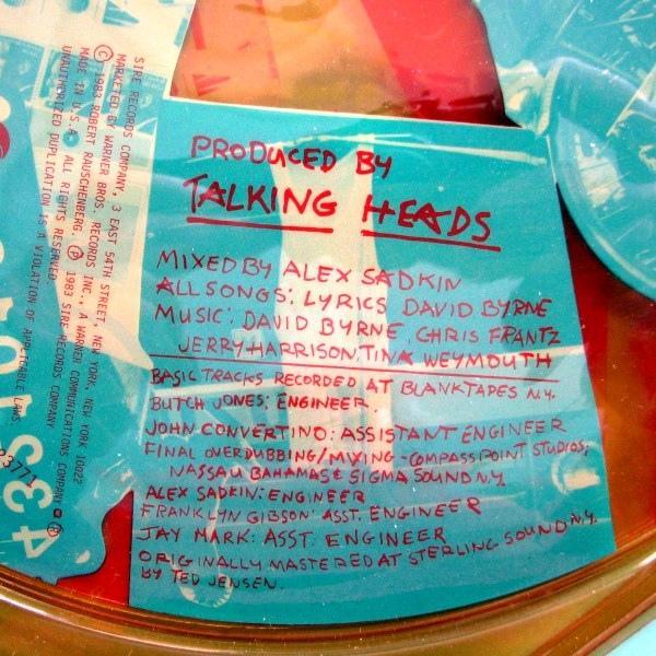 Robert Rauschenberg Talking Heads Art Vinyl - Image 4 of 4