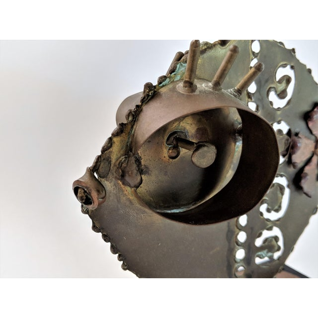 1960s Jere Style Bronze and Brass Fish Sculpture For Sale - Image 5 of 13