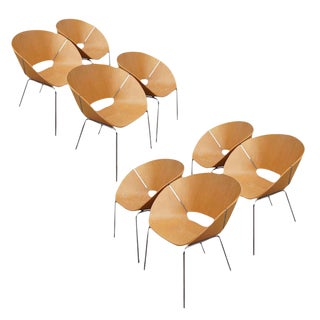 Wolfgang C.R. Mezger Lipse Chairs- Set of 8 For Sale