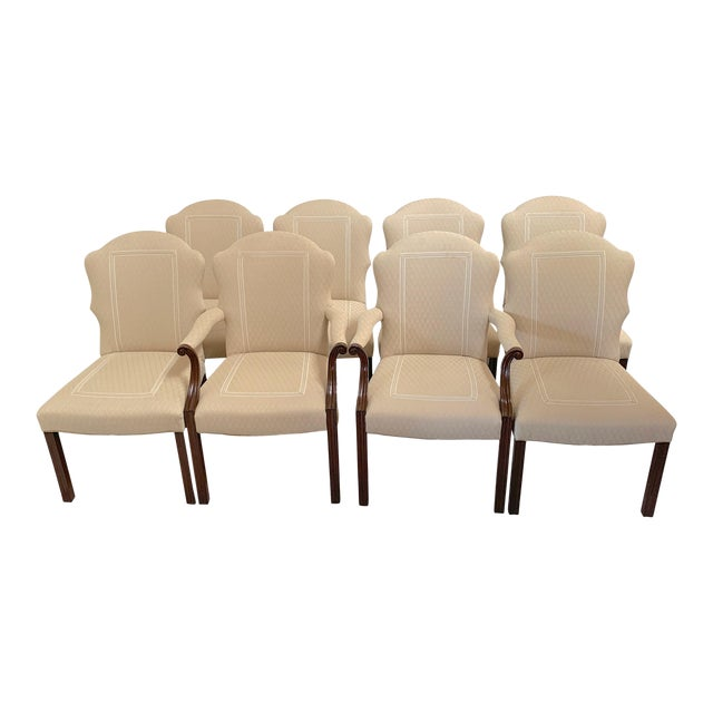 Squires Co. Custom Dining Chairs With Handles-Set of 8 For Sale