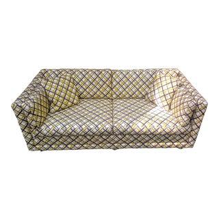 Mid-Century Vinyl Loveseat Sofa For Sale