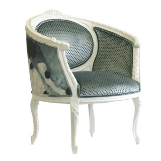 Upholstered French Chair For Sale