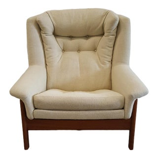 Mid Century Dux Recliner Rocker Lounge Chair For Sale