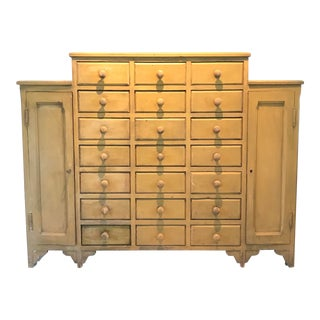 1910s Vintage Eye Popping Antique 21-Drawer Cabinet For Sale