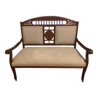 Antique Early Century Walnut Settee For Sale