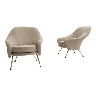 Zanuso 'martingala' Lounge Chairs,arflex, 1954 Upholstery Fully Restored, Signed