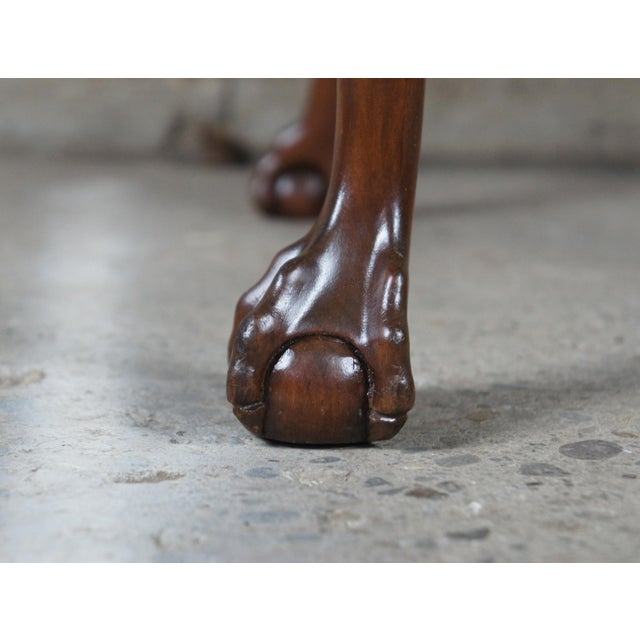 Wood Chippendale Style Mahogany Dining Arm Chair, Ball & Claw Feet For Sale - Image 7 of 12