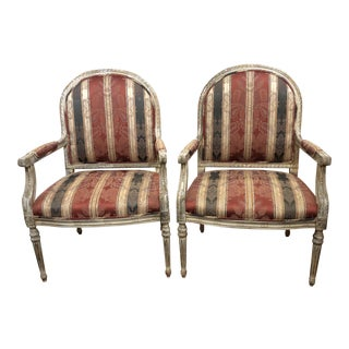 Vintage Style Custom Arm Chairs, a Pair For Sale