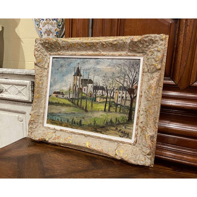 Canvas Early 20th Century French Oil on Canvas Painting Signed P. Farge For Sale - Image 7 of 13