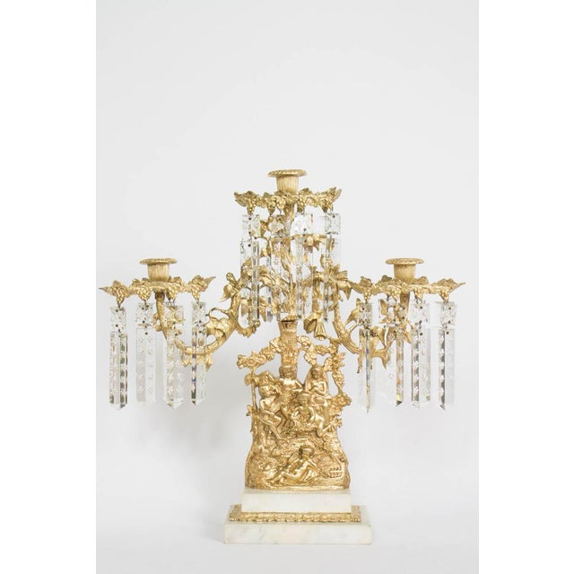 Traditional Gilt Bronze Ghirondole With Crystals For Sale - Image 3 of 8