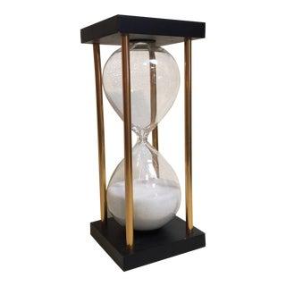 Contemporary Traditional Desk Hourglass For Sale