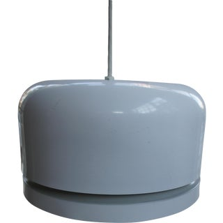 Mid-Century Modern Lightolier White Pendant Lamp For Sale