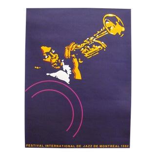 1982 Original Montreal International Jazz Festival Poster - by Gilles Brault For Sale