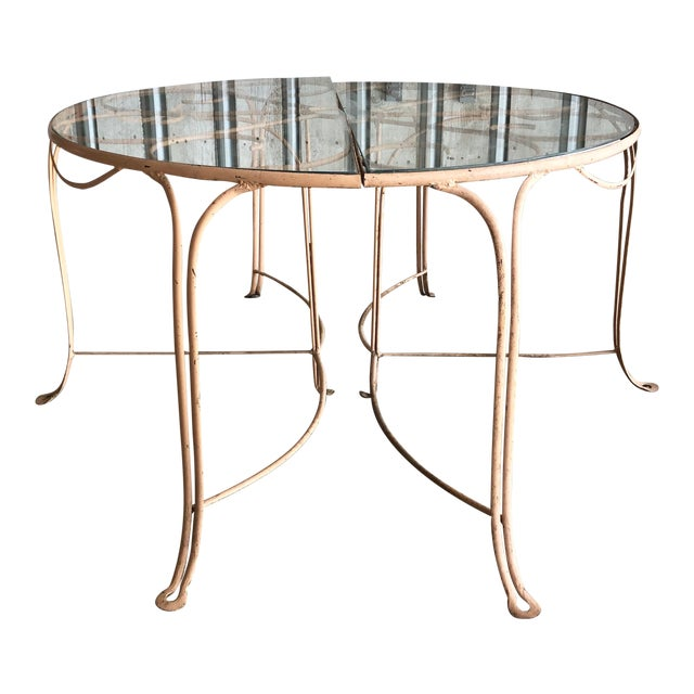 Midcentury French Garden Table For Sale
