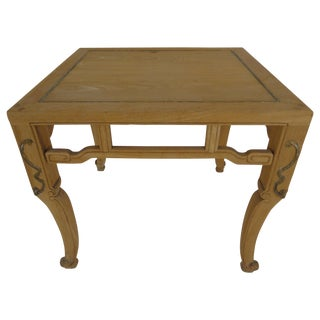 20th Century Ming Baker Natural Finish End Table For Sale
